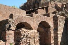 Tempio di Augusto. Ruins of temple on Forum Romanum in Rome, Italy Royalty Free Stock Photos