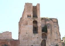 Tempio di Augusto. Ruins of temple on Forum Romanum in Rome, Italy Stock Photography