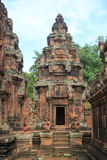 Tempio 4 di Banteay Srei Fotografie Stock