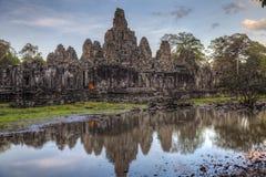 Tempio di Bayon Fotografia Stock