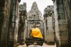Tempio di Bayon in Angkor in Cambogia Immagini Stock
