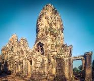 Tempio di Bayon a Angkor Thom La Cambogia cambodia Panorama immagini stock libere da diritti
