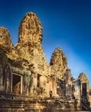 Tempio di Bayon a Angkor Thom La Cambogia cambodia Panorama immagini stock