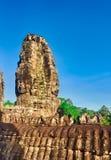 Tempio di Bayon a Angkor Thom La Cambogia cambodia Panorama fotografie stock libere da diritti