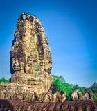 Tempio di Bayon a Angkor Thom La Cambogia cambodia Panorama fotografia stock libera da diritti