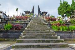 Tempio di Besakih in Bali, Indonesia Fotografie Stock Libere da Diritti