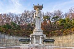 Tempio di Bongeunsa nella città di Seoul, Corea del Sud fotografie stock libere da diritti