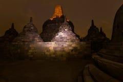 Tempio di Borobudur Buddist - isola Java Indonesia Fotografia Stock