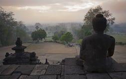 Tempio di Borobudur in Magelang Immagine Stock