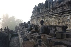 Tempio di Borobudur a Yogyakarta Fotografie Stock Libere da Diritti
