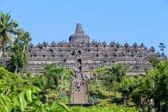 Tempio di Borobudur a Yogyakarta, Java, Indonesia Fotografie Stock