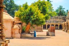Tempio di Brihadeeswara in Thanjavur, Tamil Nadu, India Immagini Stock Libere da Diritti
