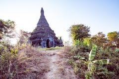 Tempio di Buddha nell'alba di tramonto fotografia stock