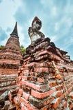 Tempio di Buddha Sukhothai Mahathat in Tailandia Fotografia Stock Libera da Diritti