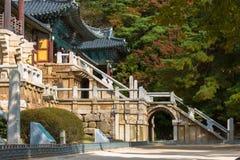 Tempio di Bulguksa in Corea del Sud Immagini Stock