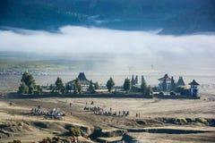 Tempio di Candi Bentar dal cratere del supporto Bromo Fotografia Stock Libera da Diritti