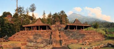 Tempio di Candi Cetho Hindu, Java, Indonesia fotografia stock