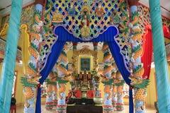 Tempio di CaoDai, delta di Tra Vinh, il Mekong, Vietnam Fotografia Stock Libera da Diritti
