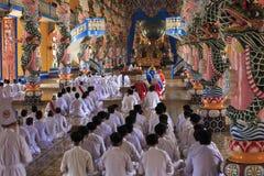 Tempio di Caodai vicino a Ho Chi Minh City, Vietnam Immagine Stock