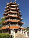 Tempio di Chainese in Tailandia fotografie stock