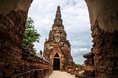 Tempio di Chaiwatthanaram a Ayutthaya, Tailandia Fotografia Stock Libera da Diritti