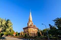 Tempio di Chalong o di Wat Chalong in Tailandia fotografia stock