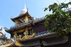 Tempio di Chau Thoi nella provincia di Binh Duong, Vietnam immagine stock libera da diritti