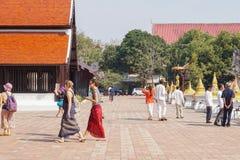 Tempio di Chedi Luang in Chiang Mai, Tailandia fotografie stock