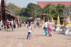 Tempio di Chedi Luang in Chiang Mai, Tailandia immagine stock