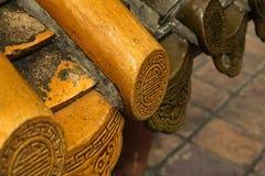 Tempio di cinese delle mattonelle di tetto del dettaglio Immagini Stock Libere da Diritti