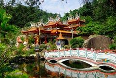 Tempio di cinese di Fu Lin Kong Fotografie Stock