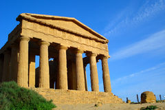 Tempio di Concordia Agrigento Fotografie Stock