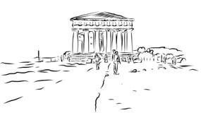 Tempio di Concordia Valle delle tempie, Agrigento, Sicilia Fotografia Stock