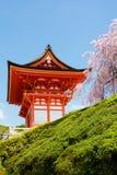 Tempio di dera di Kiyomizu a Kyoto, Giappone Immagine Stock Libera da Diritti
