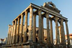 Tempio di Diana a Merida, Spagna Immagine Stock