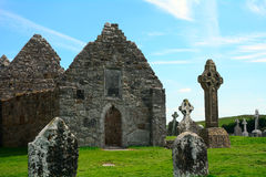 Tempio di Dowling, Clonmacnoise, Irlanda Immagine Stock Libera da Diritti