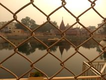 Tempio di Durgakund, Varanasi immagine stock