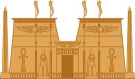 Tempio di Egiptian illustrazione di stock
