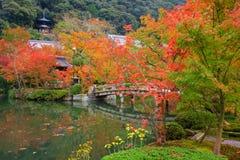 Tempio di Eikando con il giardino di autunno a Kyoto Immagini Stock Libere da Diritti