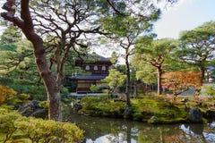 Tempio di Ginkakuji, Kyoto Pavillion d'argento, Giappone Immagini Stock Libere da Diritti