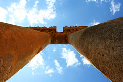 Tempio di Giove, Baalbek, Libano, Medio Oriente Immagine Stock