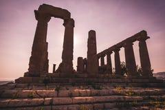 Tempio Di Giunone, Sicily - Obraz Stock