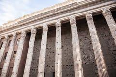 Tempio di Hadrian Fotografia Stock