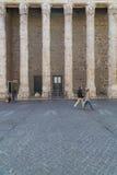 Tempio di Hadrian a Roma Fotografia Stock Libera da Diritti