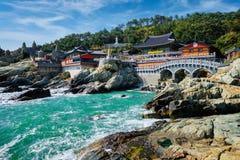 Tempio di Haedong Yonggungsa Busan, il Sud Corea fotografia stock libera da diritti