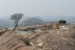 Tempio di Hanuman del dio della scimmia Hampi, India Fotografie Stock Libere da Diritti