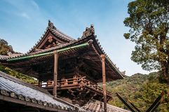 Tempio di Hasedera, Sakurai, Nara Fotografia Stock Libera da Diritti