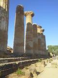 Tempio di Hercules Agrigento Fotografia Stock Libera da Diritti