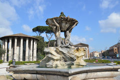 Tempio di Hercules Victor, Roma Fotografia Stock