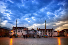 Tempio di Jokhang Fotografia Stock Libera da Diritti